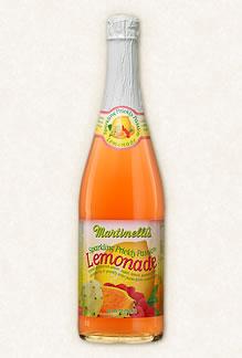 Some Martinelli's Sparkling Prickly Passion Lemonade.